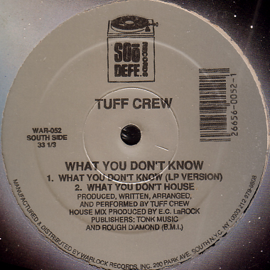Tuff Crew - Back To Wreck Shop