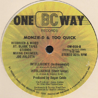 Monzie D And Too Quick - Intelligence