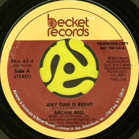 Archie Bell Any Time Is Right