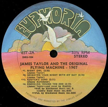 James Taylor And Flying Machine, The * Original Flying Machine - 1967, The - Brighten Your Night With My Day