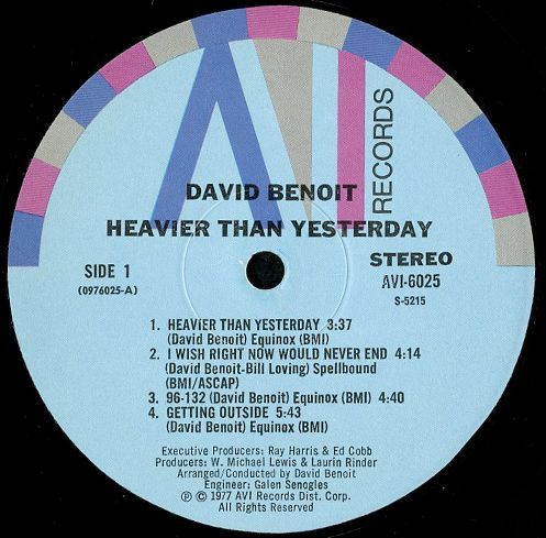 David Benoit Heavier Than Yesterday