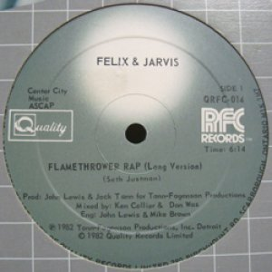 画像1: FELIX & JARVIS / FLAMETHROWER RAP (1)