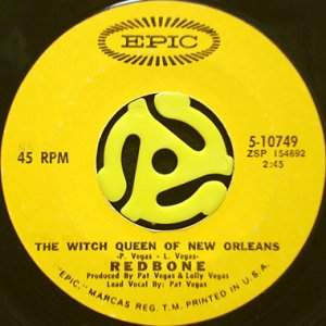 画像1: REDBONE / THE WITCH QUEEN OF NEW ORLEANS (45's) (1)