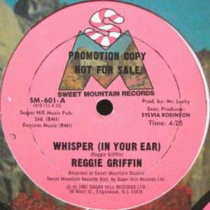 画像1: REGGIE GRIFFIN / WHISPER b/w B MICE ELF (1)
