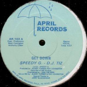 画像1: SPEEDY G. - D.J. TIZ / GET DOWN (1)