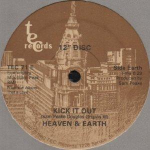 画像1: HEAVEN & EARTH / KICK IT OUT b/w JUST IN TIME (12) (1)