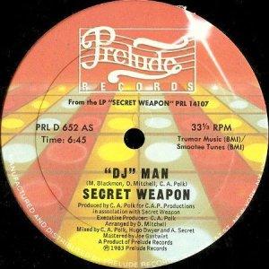 画像1: SECRET WEAPON / DJ MAN b/w DO YOU LOVE ME? (12) (1)
