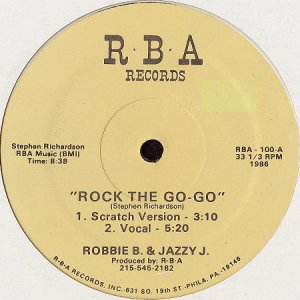 画像1: ROBBIE B & JAZZY J / ROCK THE GO-GO b/w BOOGIE DOWN (1)