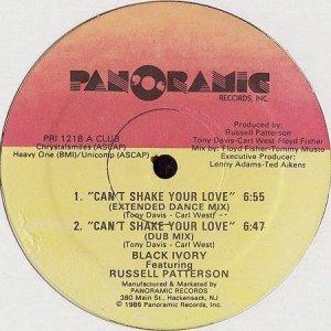 画像1: BLACK IVORY feat. RUSSELL PATTERSON / CAN'T SHAKE YOUR LOVE (1)