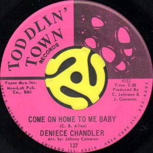 画像1: DENIECE CHANDLER / COME ON HOME TO ME BABY b/w SHY BOY (45's) (1)