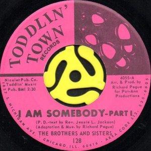 画像1: THE BROTHERS AND SISTERS / I AM SOMEBODY (45's) (1)