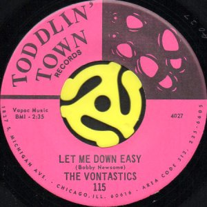 画像1: THE VONTASTICS / LET ME DOWN EASY (45's) (1)