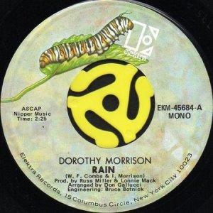 画像1: DOROTHY MORRISON / RAIN (45's) (1)