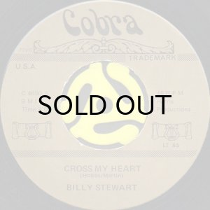 画像1: BILLY STEWART / CROSS MY HEART (45's) (COBRA) (1)