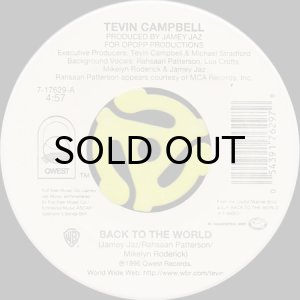 画像1: TEVIN CAMPBELL / BACK TO THE WORLD (45's) (1)