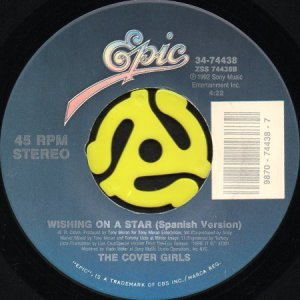 画像1: THE COVER GIRLS / WISHING ON A STAR (SPANISH VERSION) (45's) (1)