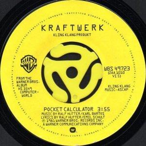 画像1: KRAFTWERK / POCKET CALCULATOR b/w DENTAKU (45's) (1)