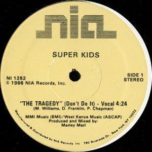 画像1: SUPER KIDS / THE TRAGEDY (DON'T DO IT) (1)