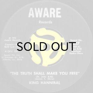 画像1: KING HANNIBAL / THE TRUTH SHALL MAKE YOU FREE (45's) (1)