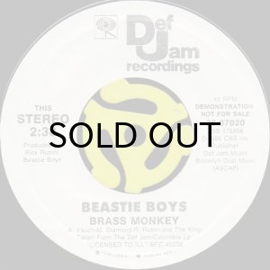 画像1: BEASTIE BOYS / BRASS MONKEY (45's) (WHITE PROMO) (1)