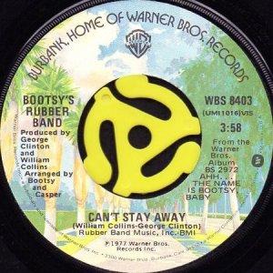 画像1: BOOTSY'S RUBBER BAND / CAN'T STAY AWAY b/w ANOTHER POINT OF VIEW (45's) (1)