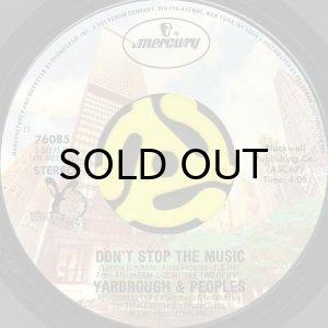 画像1: YARBROUGH & PEOPLES / DON'T STOP THE MUSIC (45's) (1)
