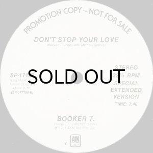 画像1: BOOKER T. / DON'T STOP YOUR LOVE (12) (WHITE PROMO) (1)