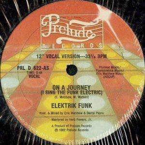 画像1: ELEKTRIK FUNK / ON A JOURNEY (I SING THE FUNK ELECTRIC) (1)