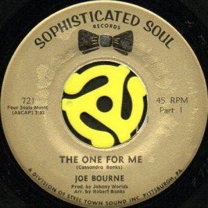 画像1: JOE BOURNE / THE ONE FOR ME (45's) (1)