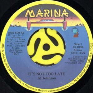 画像1: AL JOHNSON / IT'S NOT TOO LATE (45's) (1)