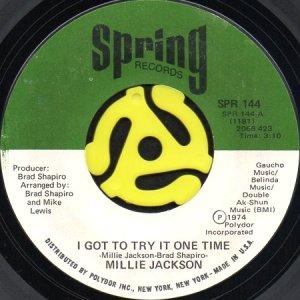 画像1: MILLIE JACKSON / I GOT TO TRY IT ONE TIME b/w GET YOUR LOVE RIGHT (45's) (1)