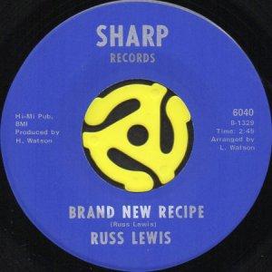 画像1: RUSS LEWIS / BRAND NEW RECIPE b/w LOVE MADE ME BLUE (45's) (1)