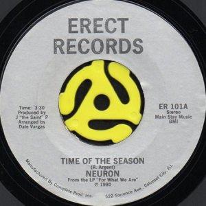 画像1: NEURON / TIME OF THE SEASON b/w DO ME RIGHT (45's) (1)