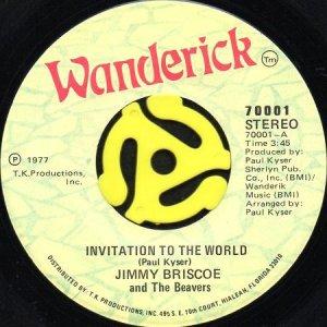 画像1: JIMMY BRISCOE AND THE BEAVERS / INVITATION TO THE WORLD (45's) (1)