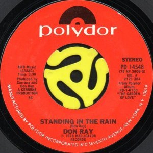 画像1: DON RAY / STANDING IN THE RAIN (45's) (1)