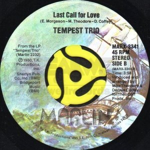 画像1: TEMPEST TRIO / LAST CALL FOR LOVE (45's) (1)