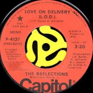 画像1: THE REFLECTIONS / LOVE ON DELIVERY (L.O.D.) (45's) (PROMO) (1)