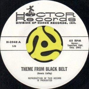 画像1: HOCTOR BAND / THEME FROM BLACK BELT (45's) (1)