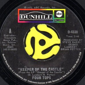 画像1: FOUR TOPS / KEEPER OF THE CASTLE (45's) (1)