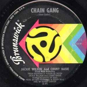 画像1: JACKIE WILSON AND COUNT BASIE / CHAIN GANG b/w FUNKY BROADWAY (45's) (1)