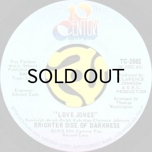 画像1: BRIGHTER SIDE OF DARKNESS / LOVE JONES (45's) (1)