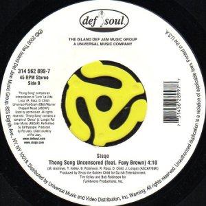 画像1: SISQO / THONG SONG feat. FOXY BROWN (45's) (1)