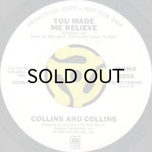 画像1: COLLINS AND COLLINS / YOU MADE ME BELIEVE (45's) (WHITE PROMO) (1)
