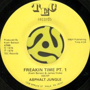 画像1: ASPHALT JUNGLE / FREAKIN' TIME (45's) (1)