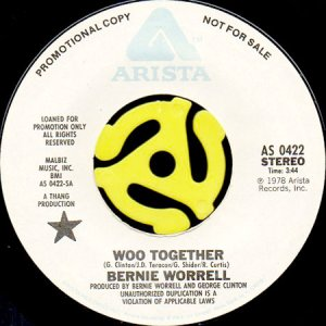 画像1: BERNIE WORRELL / WOO TOGETHER (45's) (1)