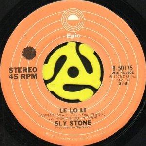 画像1: SLY STONE / LE LO LI b/w WHO DO YOU LOVE? (45's) (1)