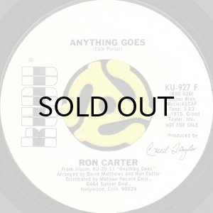画像1: RON CARTER / ANYTHING GOES (45's) (WHITE PROMO) (1)