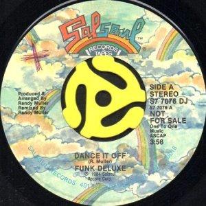 画像1: FUNK DELUXE / DANCE IT OFF (45's) (PROMO) (1)
