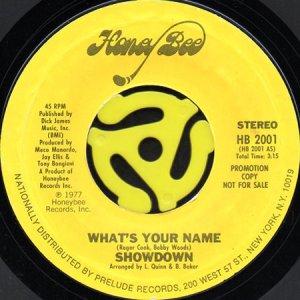 画像1: SHOWDOWN / WHAT'S YOUR NAME (45's) (PROMO) (1)