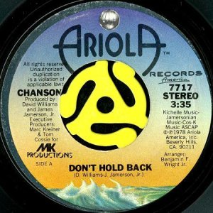 画像1: CHANSON / DON'T HOLD BACK b/w DID YOU EVER (45's) (1)